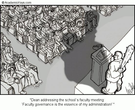 Cartoon 13 Dean Addressing The School S Faculty Meeting