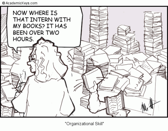 Cartoon #42, Organizational Skill